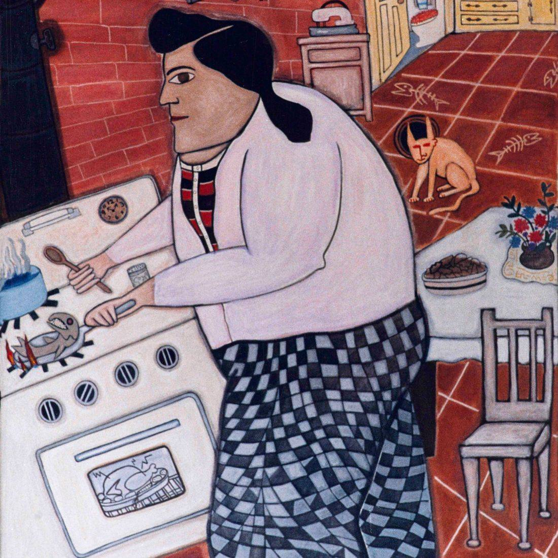 Cooking, Cook, Mother, Ghost, Cat, Kitchen, Fish, Matriarch