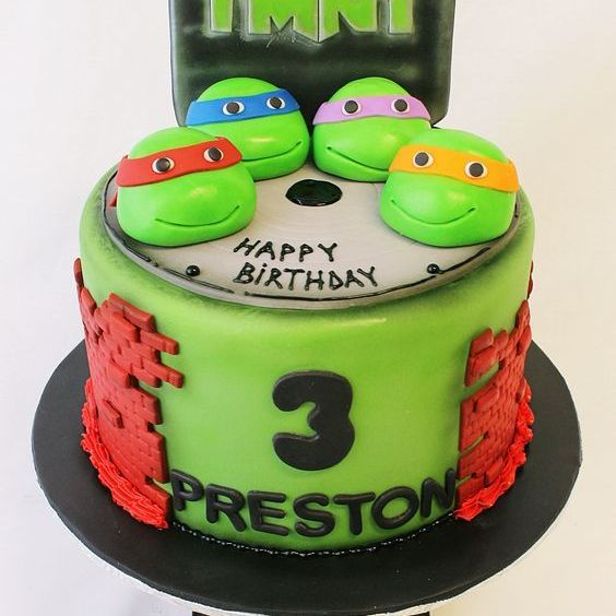 Custom TMNT Cake Milwaukee