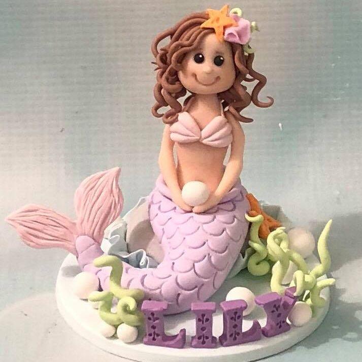 Mermaid Personalised Cake Topper Ornament