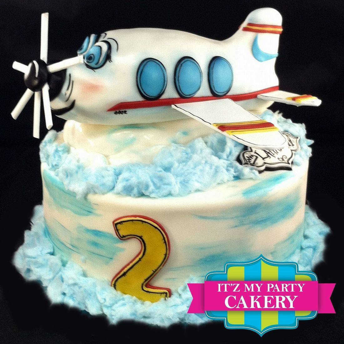 Custom Airplane Cloud Cake Milwaukee