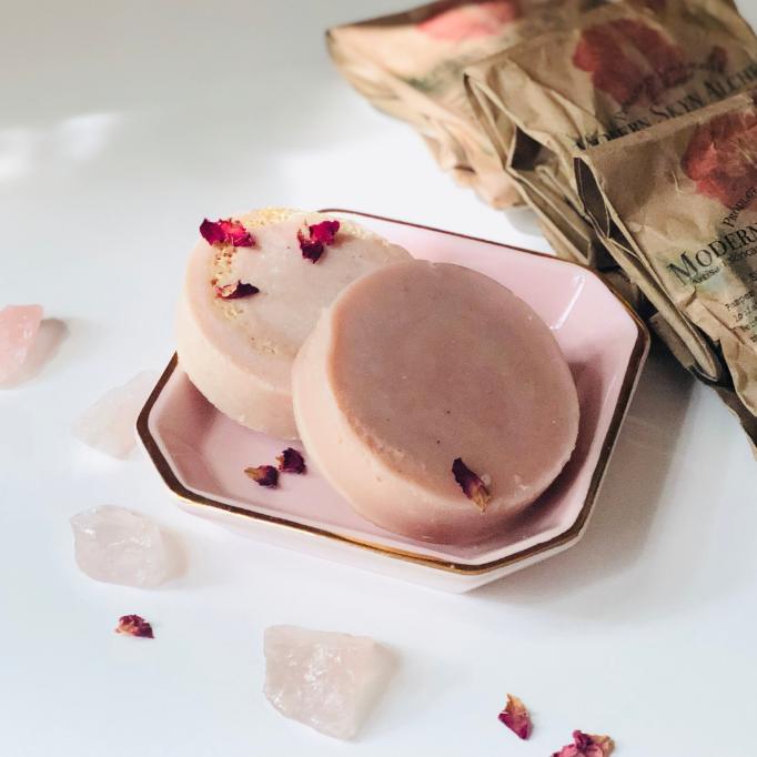 Rose Perfume, Clean Perfume, Neroli Rose Perfume, Natural Clean Loofah Soap, Handmade Soap, Rose Soap, RosePost Box, Eco Beauty Box