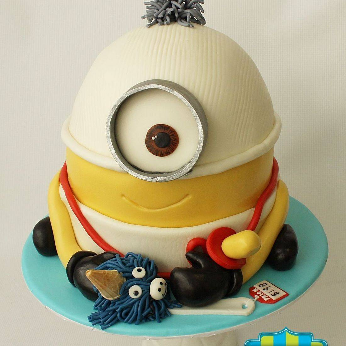 Baby Minion  Cake Carved Dimensional Cake Milwaukee
