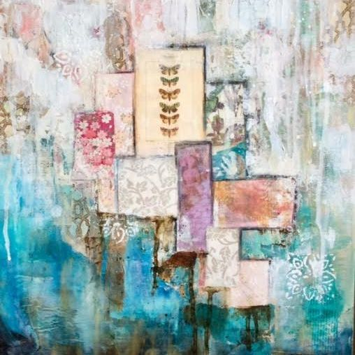 Mixed Media Collage;  by Barbara Polc; Collage Art; Acrylic Art; Abstract Art; Contemporary Art