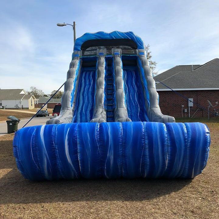 19ft dual lane racer slide