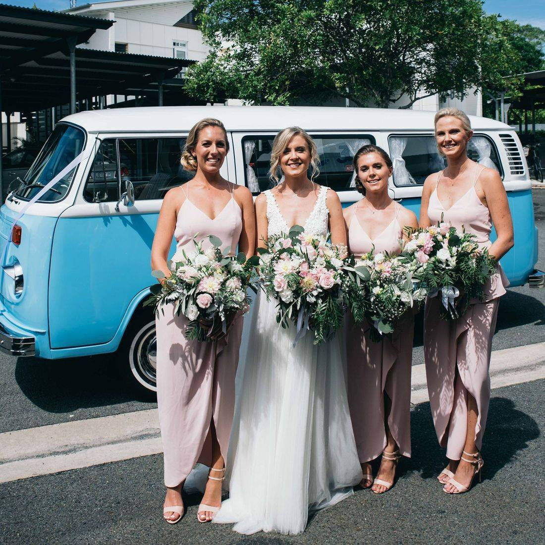 Alyssa and her bridesmaids