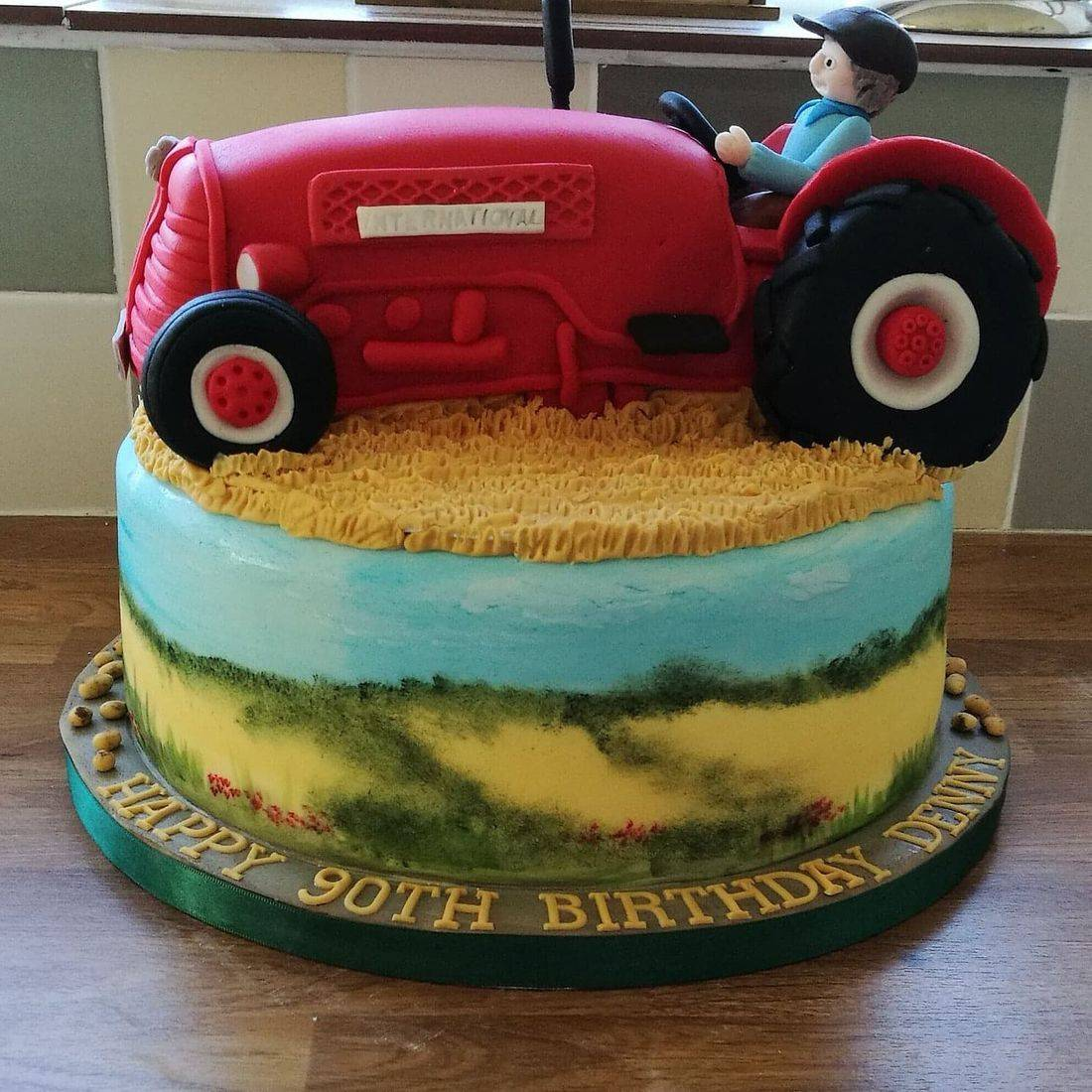 Tractor Norfolk  countryside  Cake
