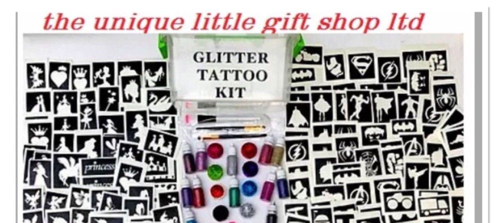 fundraising party glitter tattoo kits and stencils