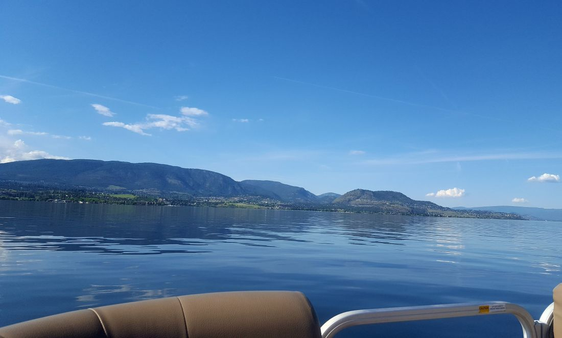 Enjoy boating on Okanagan Lake