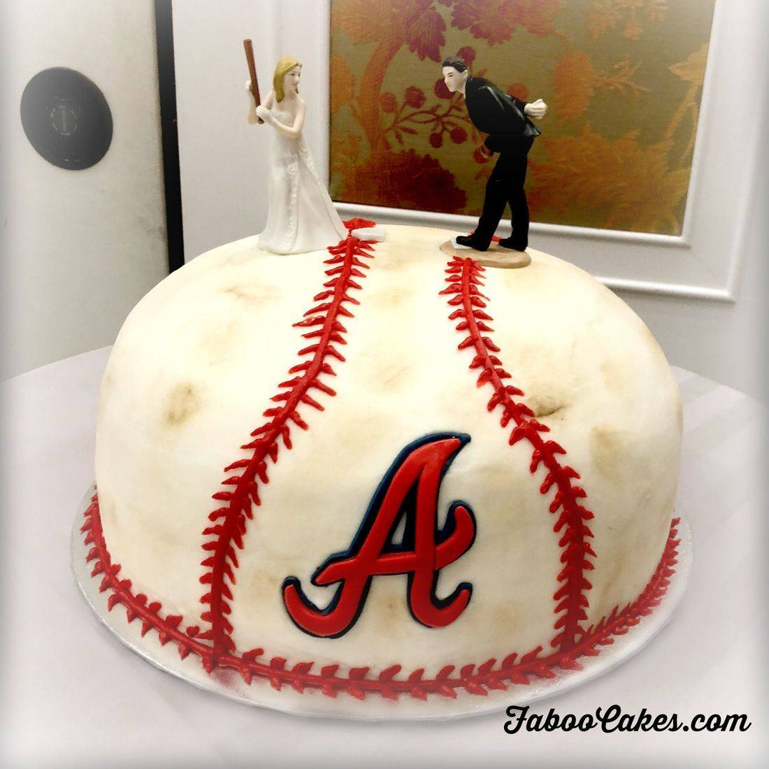 Atlanta Braves Baseball Cake 3d carved cake