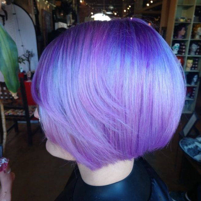 iridescent pastel lavender holographic vivd haircolor charlotte punk