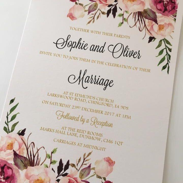 Flat style invitations