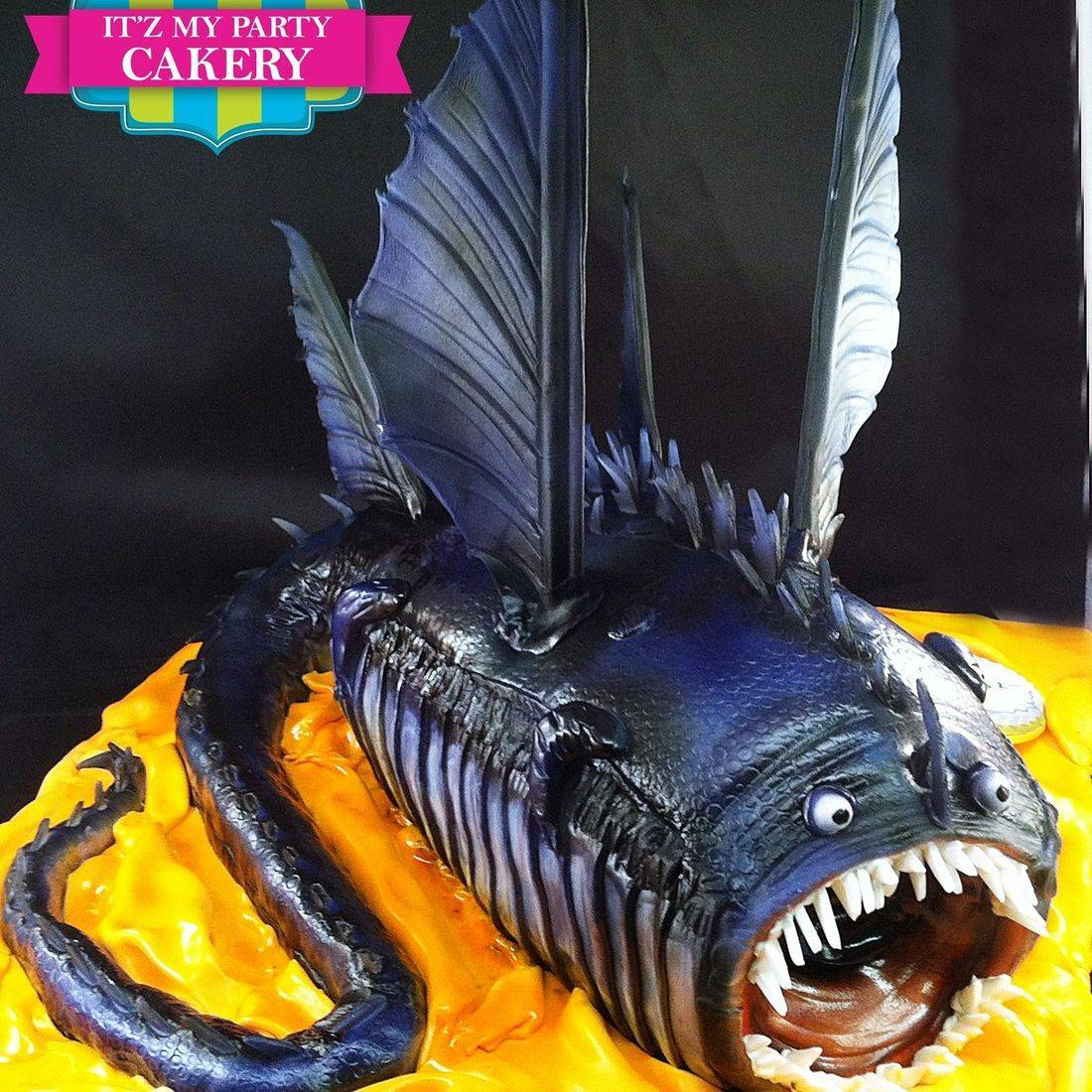 Dragon Fish Cake Dimensional Cake Milwaukee