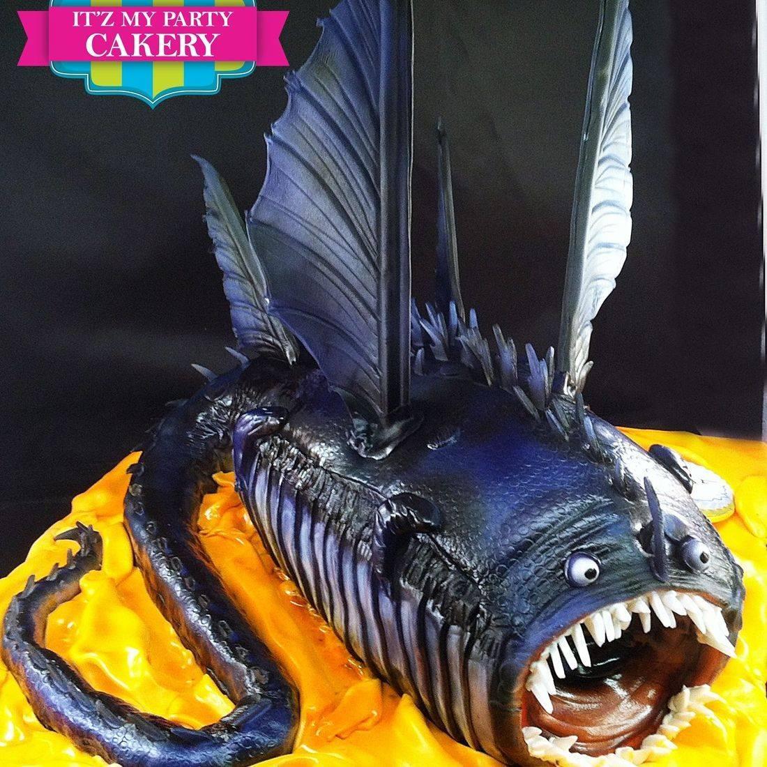 Dragon Fish Cake Dimensional Cake Milwaukee