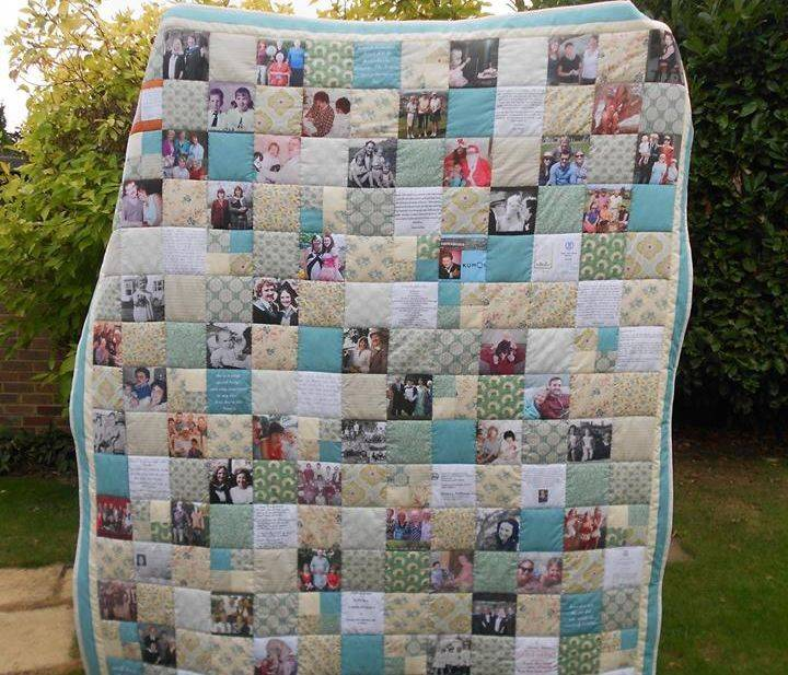 Full Double Sized Photo Memory Quilt