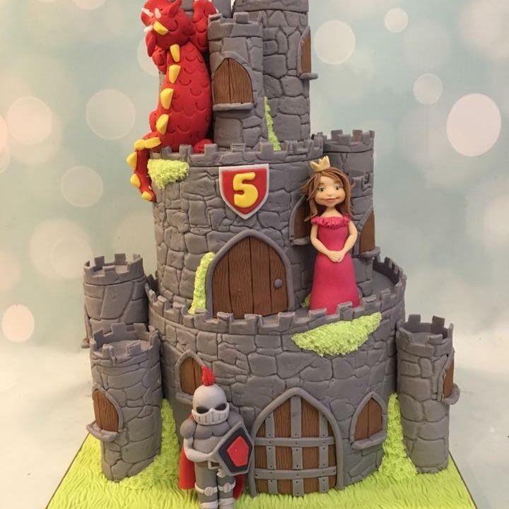 Castle Knight Princess Cake Birthday Dragon