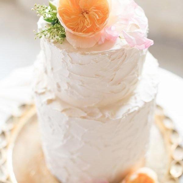 Custom  Rustic Spackle  Wedding Cake  Milwaukee