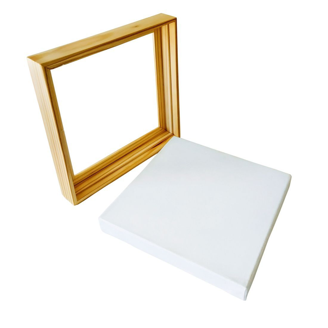 Canvas with matching floater frame
