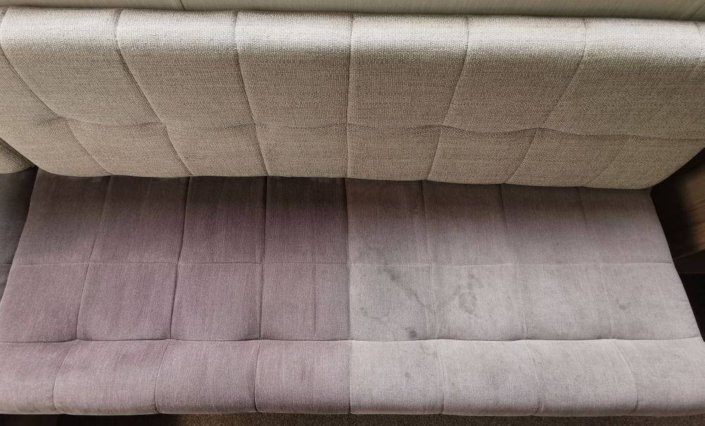 Sofa during cleaning