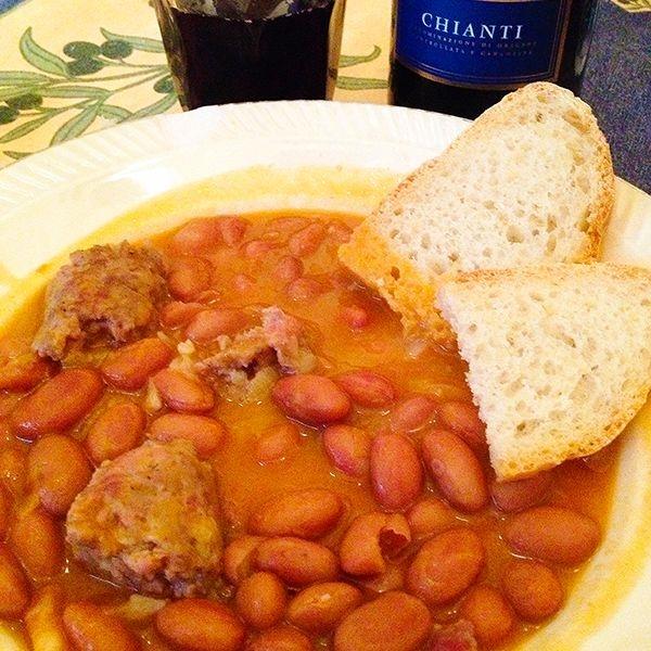 Tuscan beans and sausage