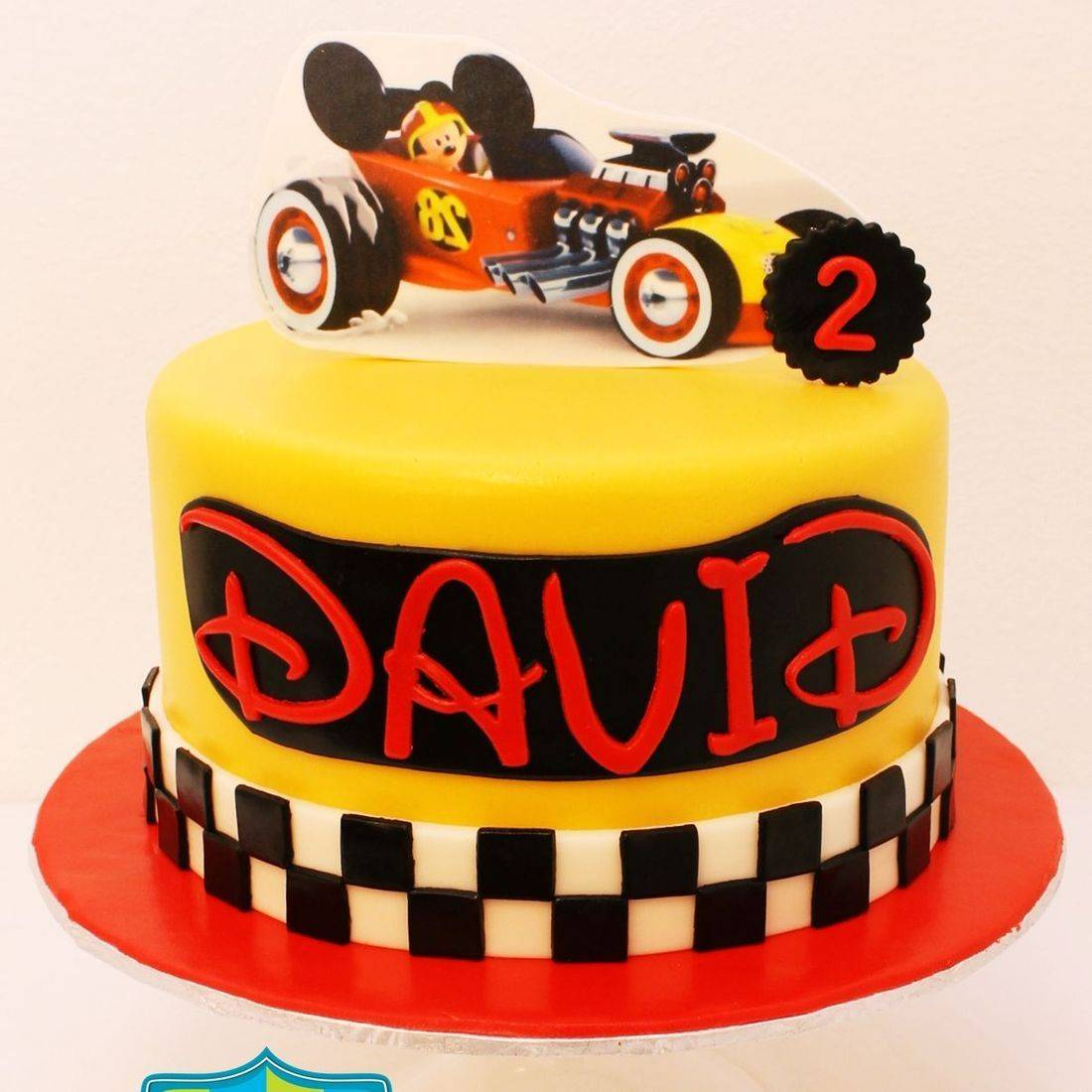 Custom Mickey Mouse Racing Car Cakes Milwaukee