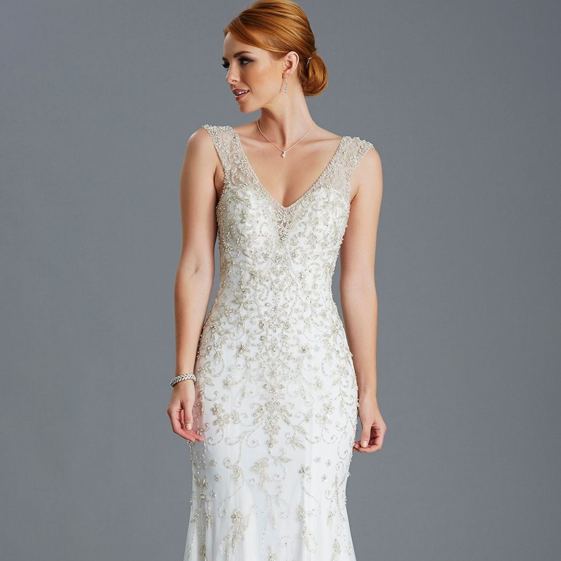 Encrusted slimfit wedding dress