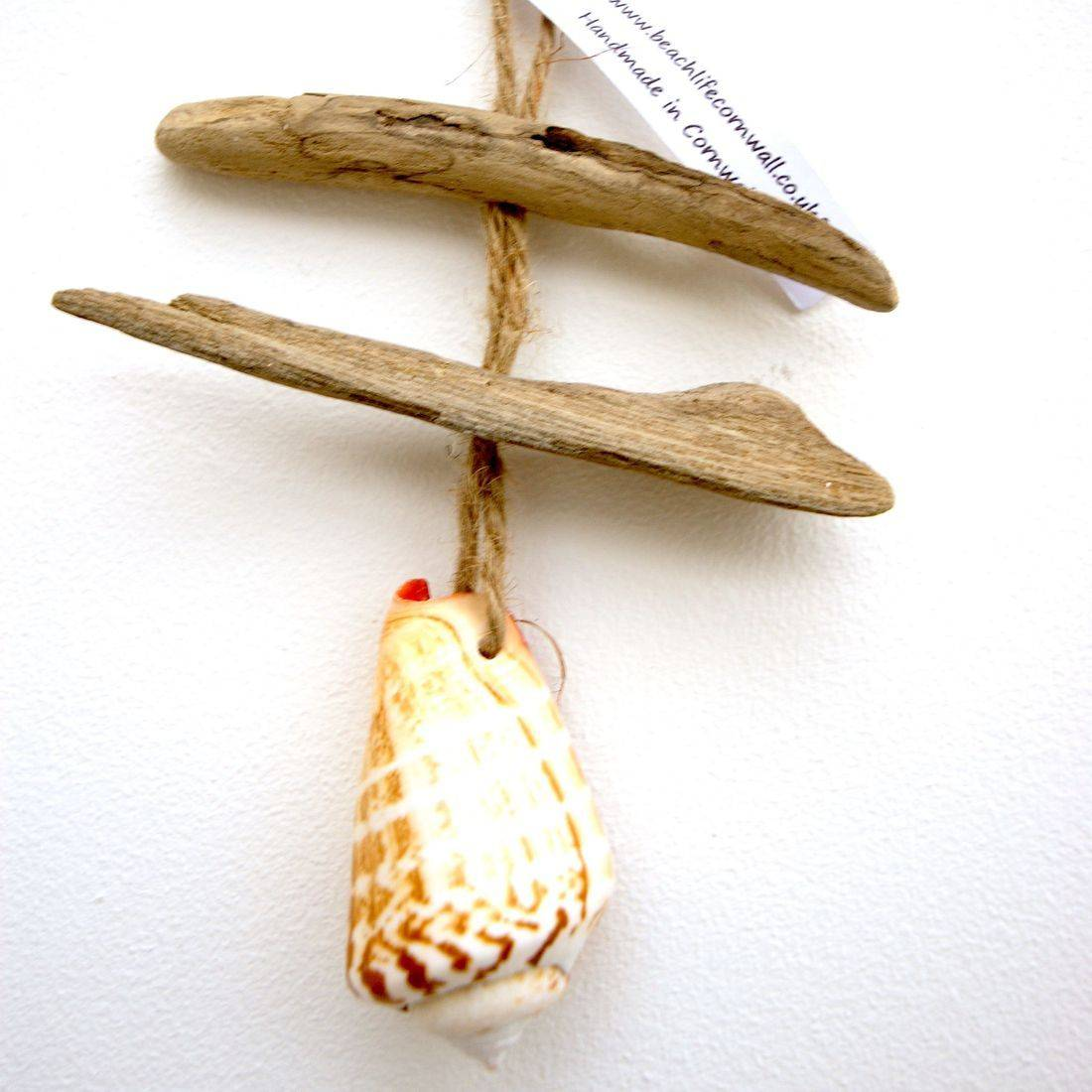 Driftwood and shell mobile 4