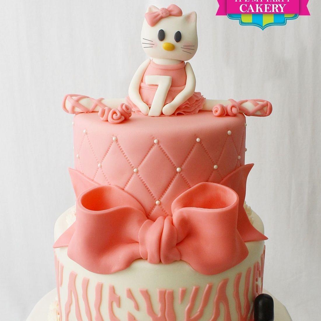 Custom  Hello Kitty Ballerina Makeup Cake  Milwaukee