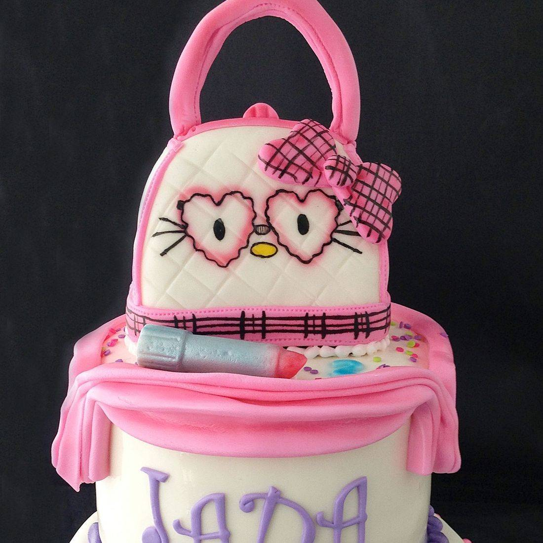 Custom Hello Kitty Purse Cake Milwaukee