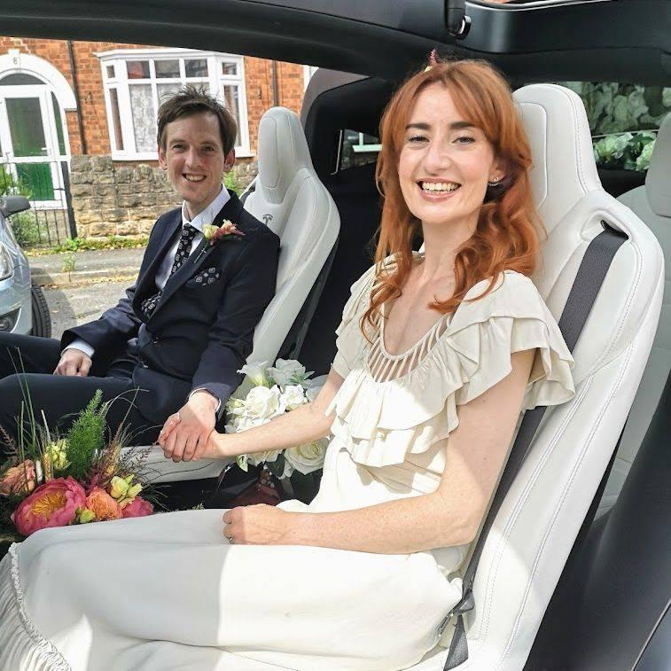 Tesla Model X Wedding Car Falcon Tesla Wedding Cars
