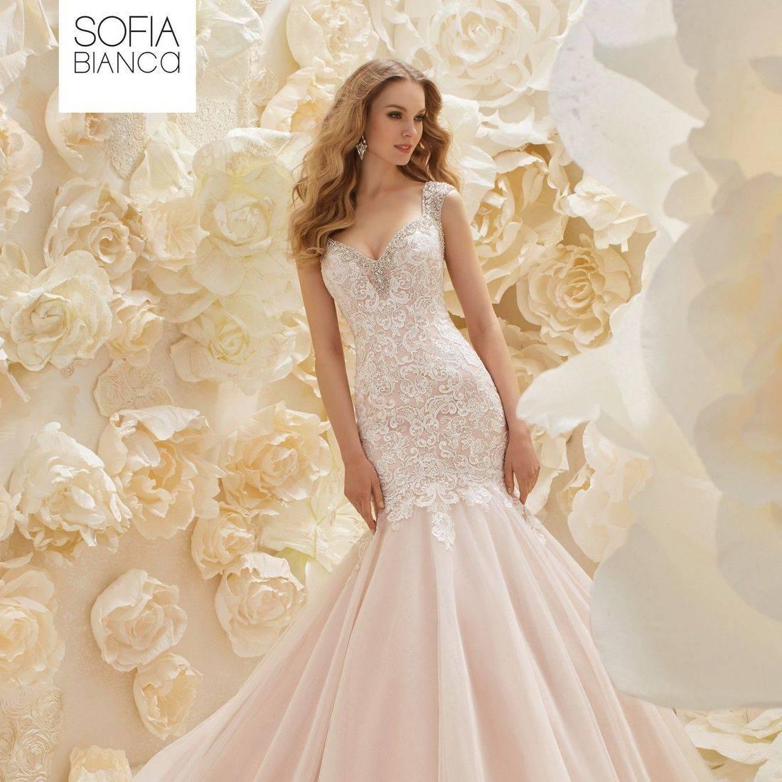 Ronald Joyce, fitted wedding dress,  lace wedding dress, stunning wedding dress