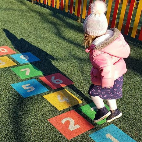 Hopscotch at Parc Y bocs- Swiss Valley Childminding Llanelli