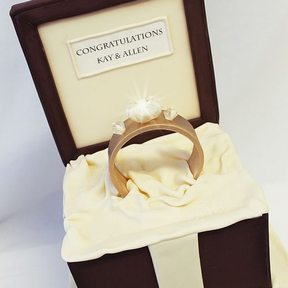 Diamond Ring Box Dimensional Cake Milwaukee