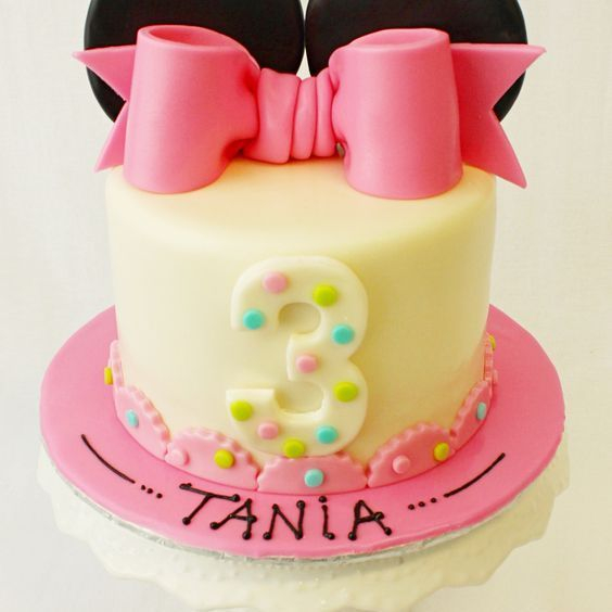 Custom Minnie Mouse Bow Cake Milwaukee