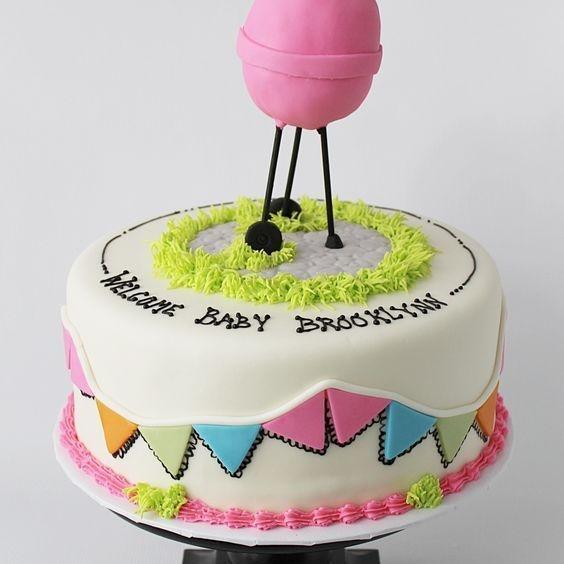 Custom Pink Grill Shower Cake Milwaukee