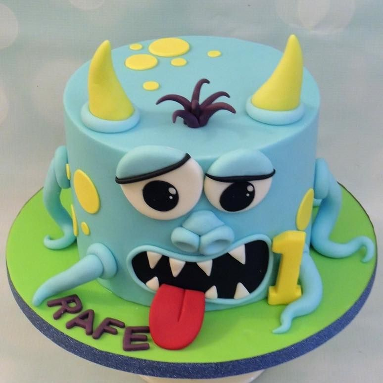 Monster Cake Cheeky Birthday Novelty Kids