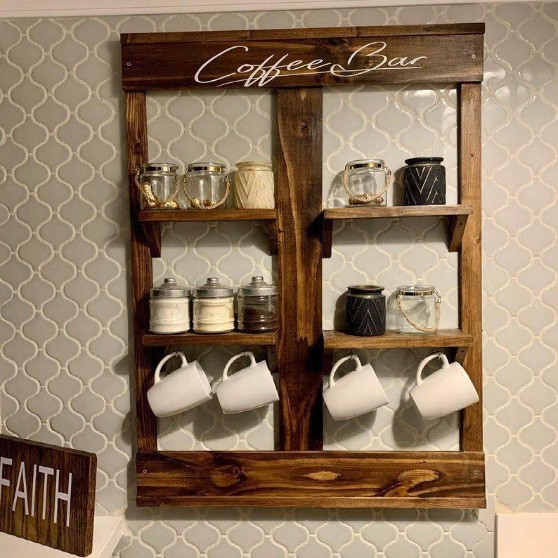 Handmade Rustic Coffe Bar