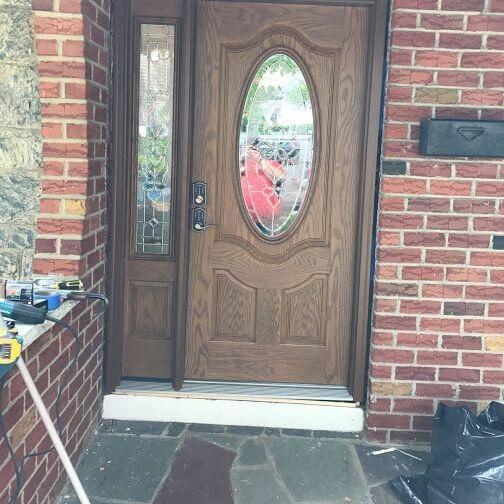 Front Security Door Installation Arcedo Construction