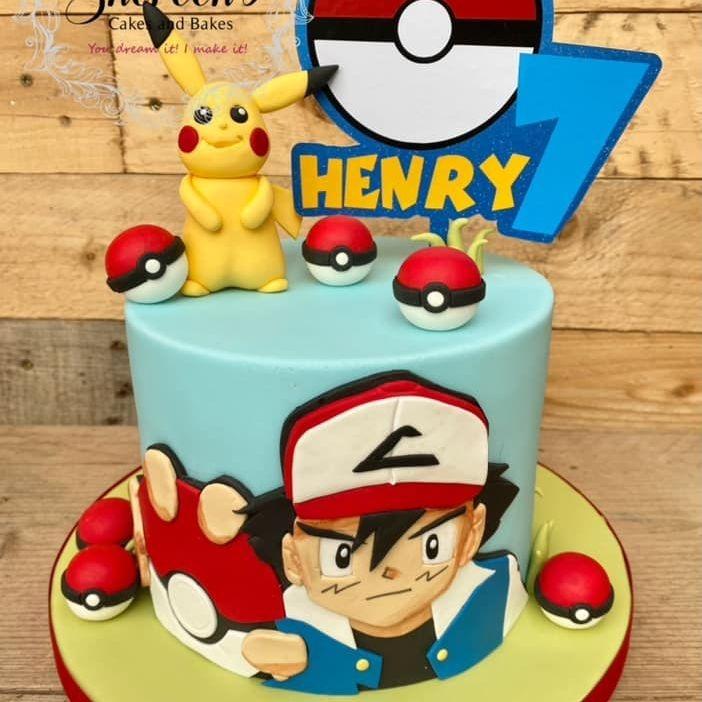 Pokemon Birthday Cake Pokeball Pikachu