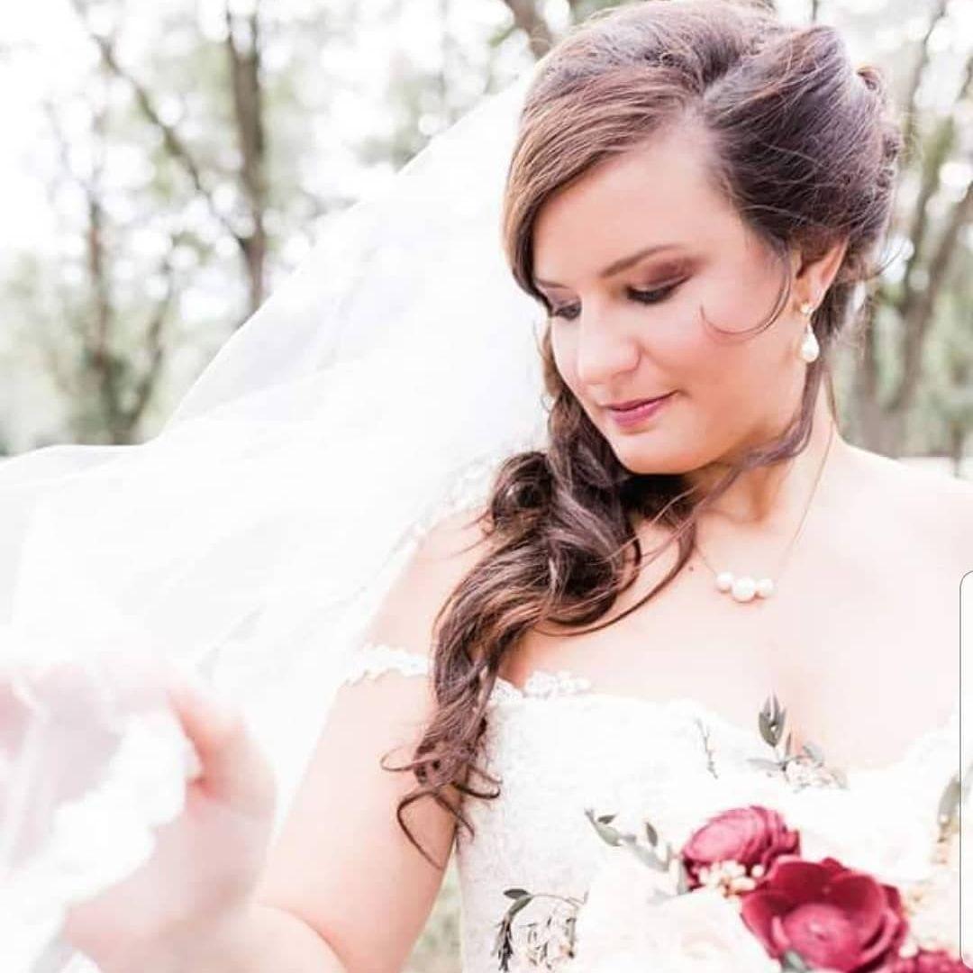 wedding makeup and hair updo