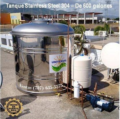 Cisterna 450 galones en stainless steel 304
