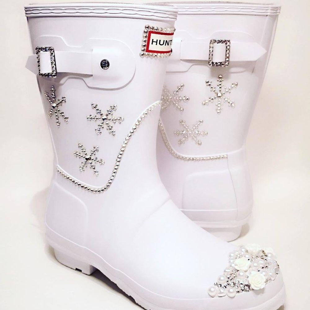 customised wedding wellies crystal hunter boots