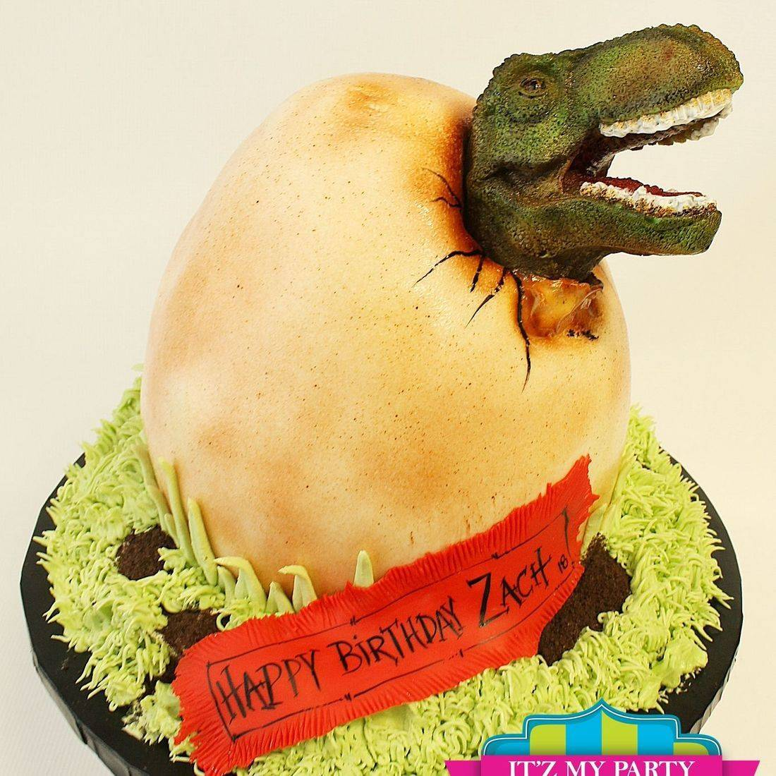 Dinosaur Egg Jurassic Park Dimensional Cake Milwaukee