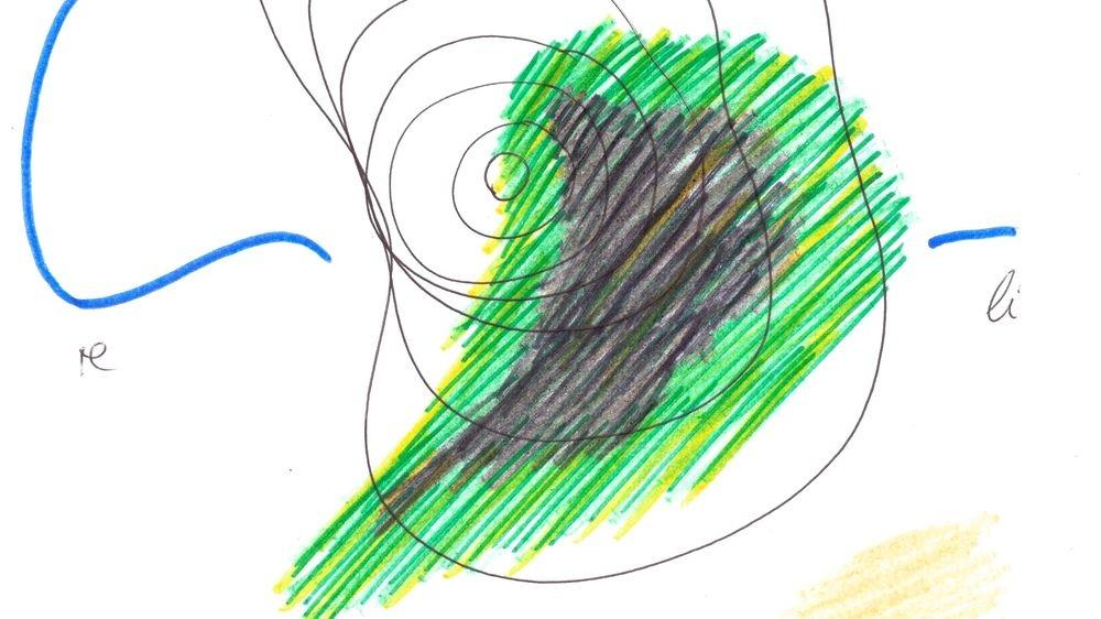 Aura-Zeichnung von Adelheid Heggenstaller