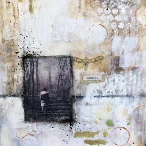 Mixed Media Collage, By Barbara Polc; Harmony,  Ethereal Art
