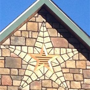 Copper penny star gable vent