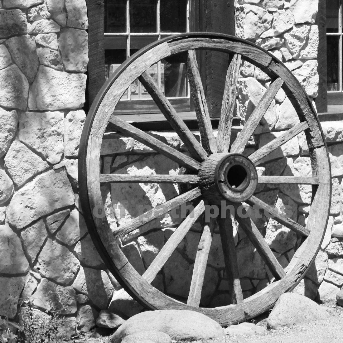 photography for sale, old west, wagon wheel, Texas, buildings