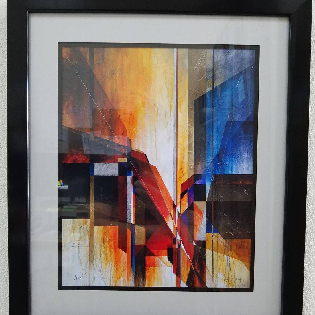 Sunset Framer oil painting custom framed