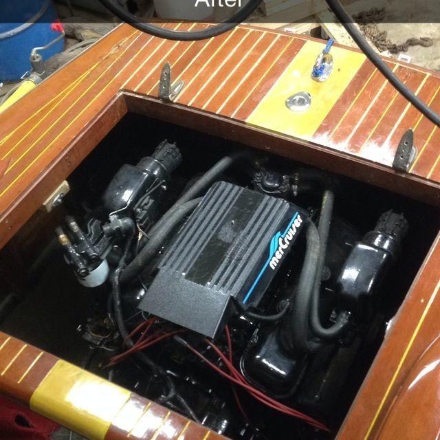 vintage engine repower by Bergersen boat