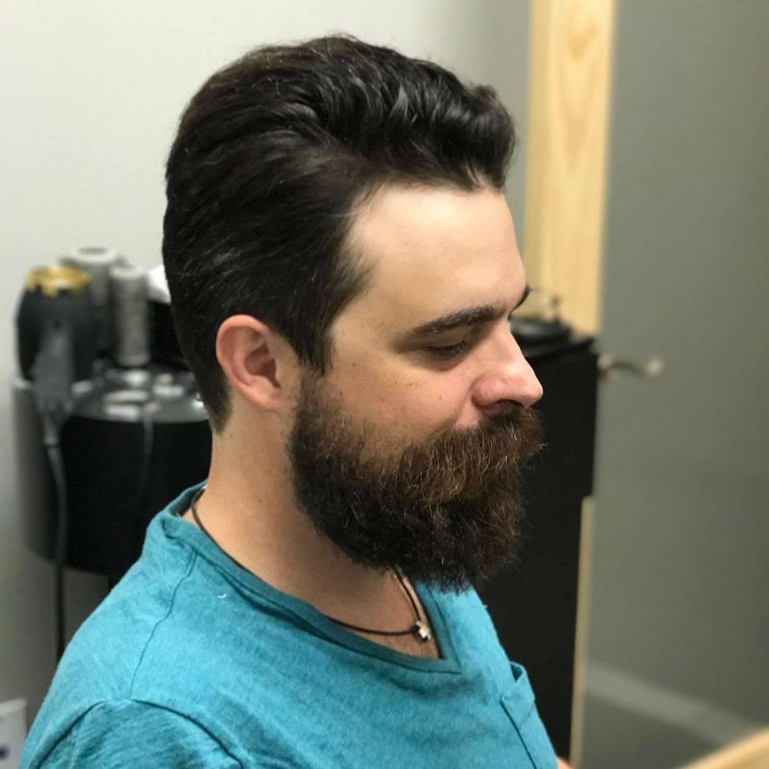 trendy haircut beard