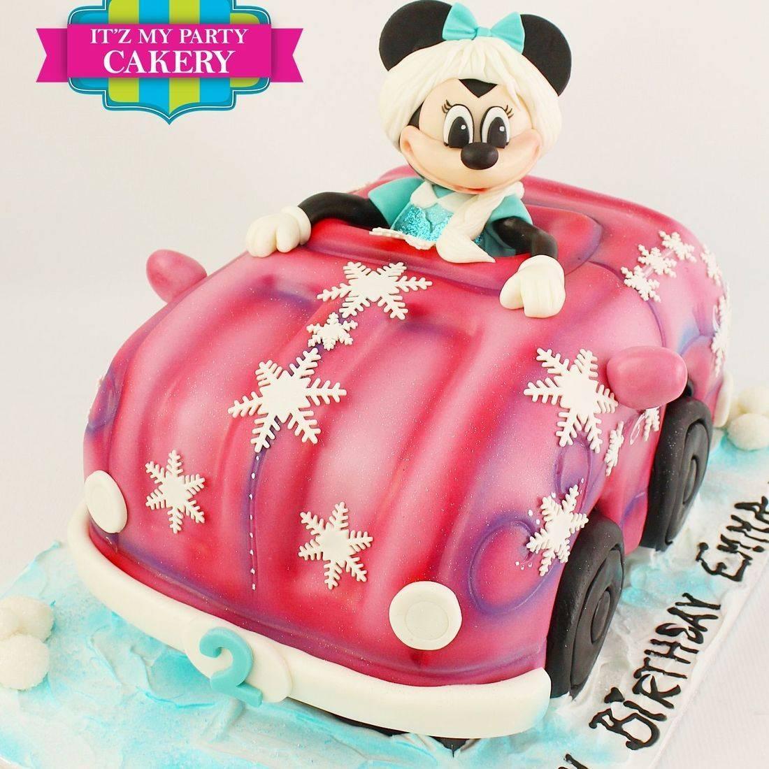 Minnie Frozen Car Carved Dimensional Cake Milwaukee
